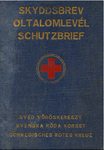 Swedish Red Cross Schutzpass Signed by Vlademar Langlet