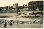 Postcard with View of Beach, Chambon-Sur-Lignon, France