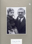 Signed Photograph of Nickolas Winton, savior of 669 Jewish children in  the Czechoslovakian Kindertransport, Holding a Child