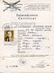 Visa Issued by Chiune Sugihara and Jan Zwartendijk to A. Silberberg as Part of Polish ID Certificate.