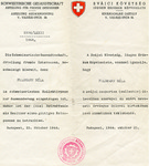 Swiss Schutzbrief (Letter of Protection) issued to Bela Feldmann by the Swiss Legation in Budapest under Vice-Consul Carl Lutz