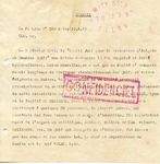 Military Document Describing Cardinal Gerlier, and Arrest of Jews in Lyon, France by Klaus Barbie