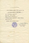 Protective Letter Issued by Angelo Rotta to Dr. Vilcsek Jenóné
