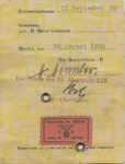 SS Identification Card with Himmler Hand Stamp