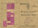 Bund Deutsche Mädel Identification Card for Anni Luh