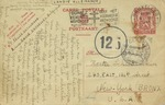 Postcard From Belgian Survivor Felice Grossman Describing Her Wartime Experiences