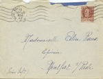Letter and Envelope to Elice Raoux, Montfort, France Regarding Jewish Citizens of Rouen, France