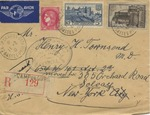 Camp de Gurs Air Mail Envelope to New York