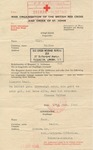 Kindertransport Correspondence:International Red Cross from Walter Herz, United Kingdom, to Marie Herz, Bohemia-Moravia