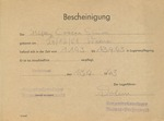 Simon Cossen Death Notice From Buchenwald
