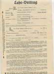 Work-Related Contract Relating to Gertrude Katzenstein Prior to Emigrating From Germany