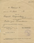 Birth Certificate for Gertrude Katzenstein, Daughter of Leopold Katzenstein and Bella Katzenstein