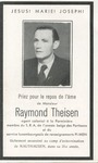 Funeral Card for Raymond Theisen