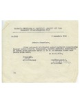 Official Document with W. Filderman Signature Stamp Regarding Extra Religious Services
