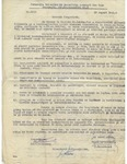 Official Document with W. Filderman Signature Stamp Regarding Forced Labor Camps