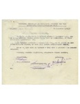 Official Document with W. Filderman Handwritten Initials Regarding Property Documents