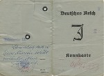 """Kennkarte"" (Identification Document) for Herman Rosenbaum"