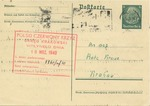 Postcard to the Red Cross in Krakow Regarding Search for Someone
