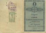 """Carta d'Identita"" (Identity Card) for Helena Harnisch-Szapira"