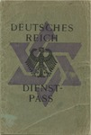 Weimar Dienstpass for Ernst and Freda Borchardt with Forged Third Reich Anachronisms