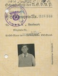 SS-Schutzstaffel of the NSDAP ID with ink-stamped Reichsfuhrer SS Himmler Printed Signature