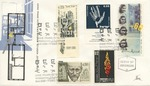 First Day Cover: Celebration of Anne Frank along with stamps honoring the end of the Holocaust