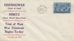 Celebrating US Navy in WWII and Commemorating the Beginning of the Nuremburg Trials Envelope