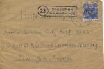 Envelope from a German Displaced Persons Camp