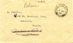 Thank You Note from Bergen-Belsen Displaced Persons Camp