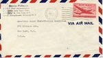 Envelope from the United National Relief and Rehabilitation Administration sent from APO 171 (Kassel, Germany)