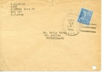 Envelope from the United National Relief and Rehabilitation Administration sent from APO 254 (Germany)