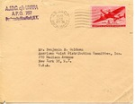 Envelope from the United National Relief and Rehabilitation Administration sent from APO 170 (Germany)