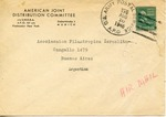 Envelope from the United National Relief and Rehabilitation Administration sent from APO 757 (Munich)