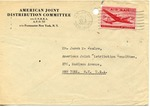Envelope from the United National Relief and Rehabilitation Administration sent from APO 407
