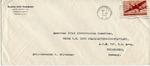 Envelope from the United National Relief and Rehabilitation Administration sent from APO 757 (Heidelberg)