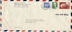 Envelope from the United National Relief and Rehabilitation Administration sent from APO 887 (France)