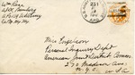 Envelope to the Preparatory Commission of the International Refugee Organization sent from APO 225 (Germany)