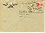 Envelope from the Preparatory Commission of the International Refugee Organization sent from APO 757 (Frankfort)