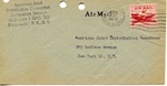 Envelope from the International Refugee Organization sent from APO 751 (Germany)