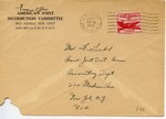 Envelope from the International Refugee Organization sent from APO 407 (Munich)