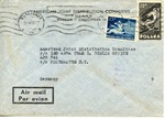 Envelope to the International Refugee Organization sent from Poland from APO 742 (Berlin)