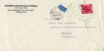 Envelope from the United Nations High Commissioner for Refugees Bad Godesberg, Bonn Branch Office to the American Joint Distribution Committee, Munich