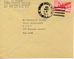 American Joint Distribution Committee Envelope Concerning Displaced Persons, Sent from APO 571 (Belgium)