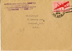 American Joint Distribution Committee Envelope Concerning Displaced Persons, Sent from APO 777 (Saltzberg)