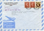 American Joint Distribution Committee Envelope Concerning Displaced Persons, Sent from APO 777 (Salzberg)