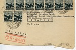 American Joint Distribution Committee Envelope Concerning Displaced Persons, Sent from Camps Bureau, AJDC, Milan