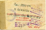The American Joint Distribution Committee as Courier post-World War II Correspondence to Palestine