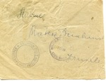 The American Joint Distribution Committee as Courier post-World War II Envelope to Palestine