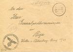 Envelope from Der Sicherheitspolitzei (Riga, Latvia)