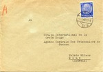"""Sara"" Envelope to International Committee of the Red Cross, Central Agency for Prisoners of War in Switzerland"